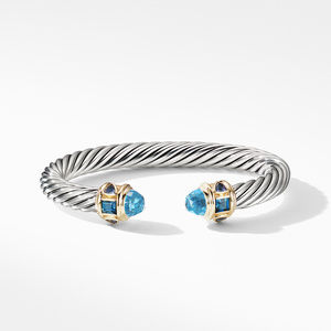 Renaissance Bracelet with Blue Topaz and 14K Yellow Gold alternative image