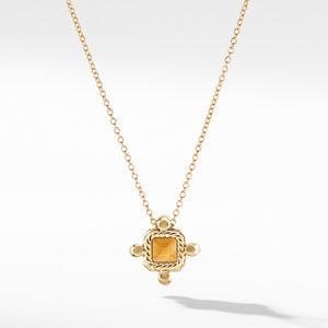 Novella Pendant Necklace in 18K Yellow Gold Madeira Citrine with Diamonds alternative image