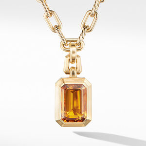 Novella Pendant in 18K Yellow Gold with Madeira Citrine