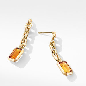 Novella Chain Drop Earrings in 18K Yellow Gold with Madeira Citrine alternative image