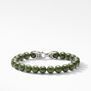 Spiritual Bead Bracelet with Nephrite Jade