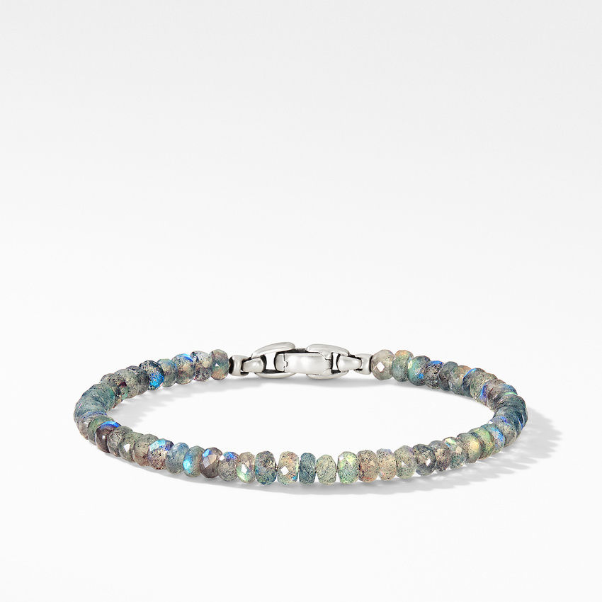 Faceted Bead Bracelet with Labradorite