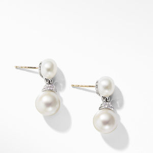 Continuance® Pearl Drop Earrings with Diamonds alternative image