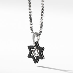 Forged Carbon Star of David Amulet alternative image