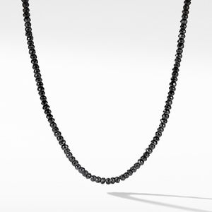 Spiritual Bead Necklace with Black Spinel