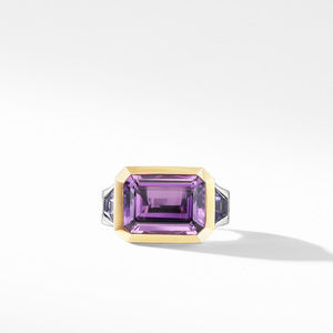 Novella Three Stone Ring with Amethyst and 18K Yellow Gold alternative image
