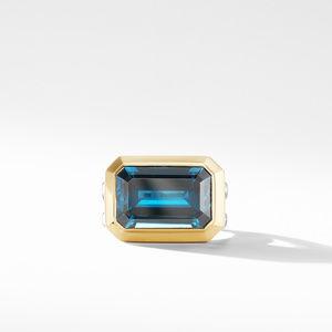 Novella Statement Ring with Hampton Blue Topaz and 18K Yellow Gold alternative image