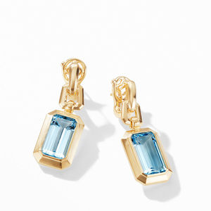Novella Drop Earrings in 18K Yellow Gold with Blue Topaz alternative image