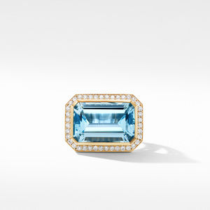 Novella Statement Ring in 18K Yellow Gold with Blue Topaz and Diamonds alternative image