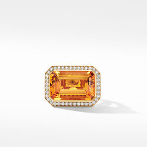 Novella Statement Ring in 18K Yellow Gold with Madeira Citrine and Diamonds alternative image