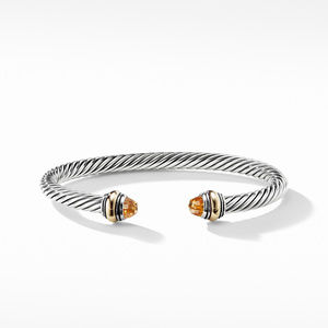Cable Classic Bracelet with Citrine and Gold alternative image
