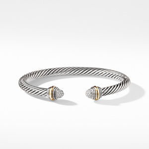 Cable Classics Collection® Bracelet with Diamonds and 14K Gold alternative image
