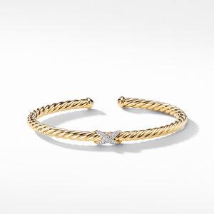 X Bracelet with Diamonds in 18K Gold alternative image