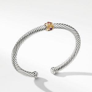 Renaissance Bracelet with Pink Tourmaline Rhodalite Garnet and 14K Gold