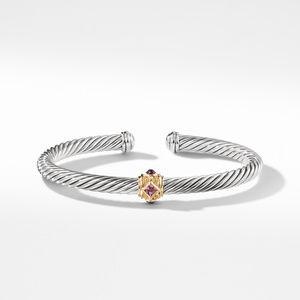 Renaissance Bracelet with Pink Tourmaline Rhodalite Garnet and 14K Gold alternative image