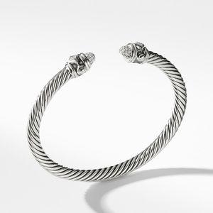 Renaissance Bracelet with Diamonds in Silver, 5mm