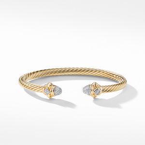 Renaissance Bracelet with Diamonds in 18K Gold, 5mm alternative image