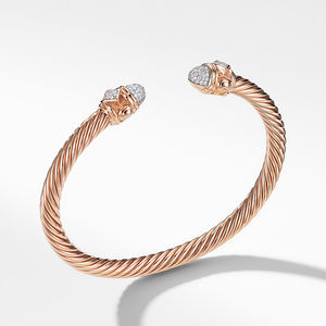 Renaissance Bracelet with Diamonds in 18K Rose Gold, 5mm