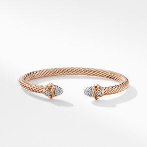 Renaissance Bracelet with Diamonds in 18K Rose Gold, 5mm alternative image