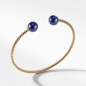 Bead Bracelet with Lapis Lazuli in 18K Gold