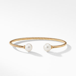 Bead Bracelet with Pearl in 18K Gold alternative image