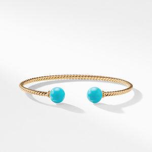 Solari Bead Bracelet with Turquoise in 18K Gold alternative image