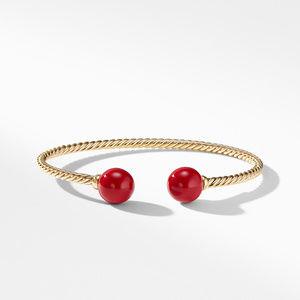 Solari Bead Bracelet with 18K Gold and Red Enamel alternative image
