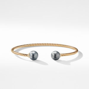 Solari Bead Bracelet with Tahitian Grey Pearl in 18K Gold alternative image