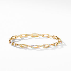 Stax Chain Link Bracelet with Diamonds in 18K Gold alternative image