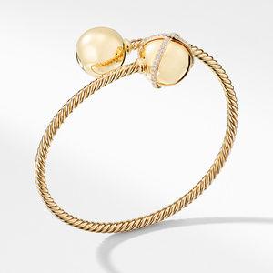 Solari Bypass Bracelet with Diamonds in 18K Gold
