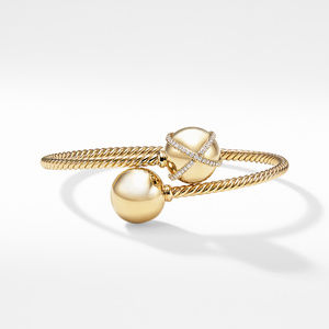 Solari Bypass Bracelet with Diamonds in 18K Gold alternative image