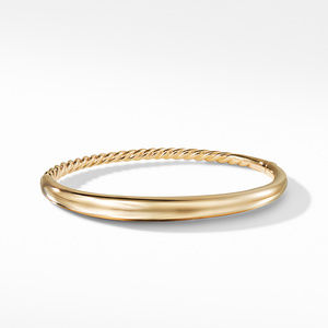 Pure Form Smooth Bracelet in 18K Gold alternative image