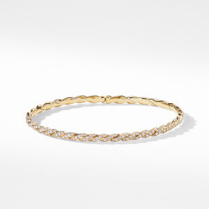 Pavéflex Single Row Bracelet with Diamonds in 18K Gold alternative image