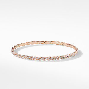 Pavéflex Single Row Bracelet with Diamonds in 18K Rose Gold alternative image