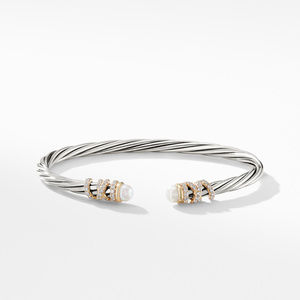 Helena End Station Bracelet with Pearls, Diamonds and 18K Gold, 4mm alternative image