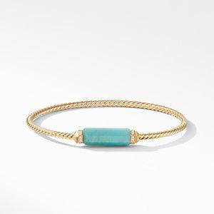 Barrels Bracelet with Diamonds and Amazonite in 18K Gold alternative image