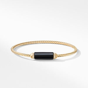 Barrels Bracelet with Diamonds and Black Onyx in 18K Gold alternative image