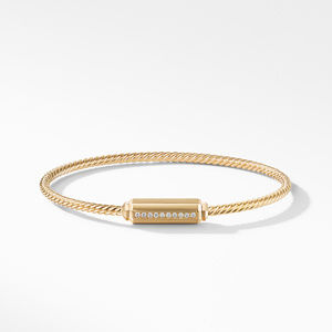 Barrels Bracelet with Diamonds in 18K Gold alternative image