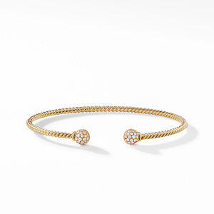 Petite Solari Bead Bracelet with Diamonds in 18K Gold alternative image