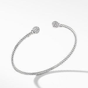 Petite Solari Bead Bracelet with Diamonds in 18K White Gold