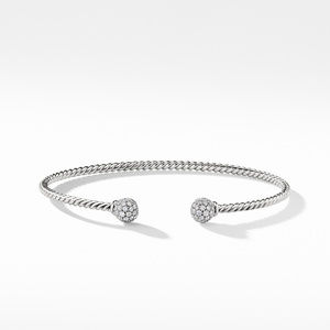 Petite Solari Bead Bracelet with Diamonds in 18K White Gold alternative image