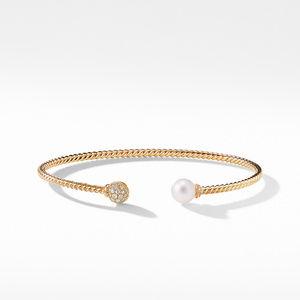 Petite Solari Bead and Pearl Bracelet with Diamonds in 18K Gold alternative image