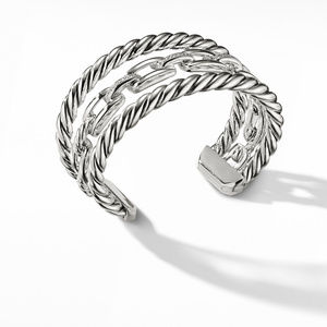 Wellesley Link™ Three-Row Cuff with Diamonds alternative image