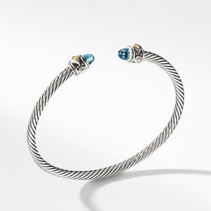 Renaissance Bracelet with Blue Topaz and 18K Gold