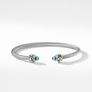 Renaissance Bracelet with Blue Topaz and 18K Gold alternative image