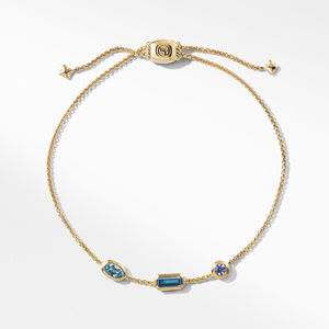 Novella Chain Bracelet in Hampton Blue Topaz, Aquamarine, and Tanzanite alternative image