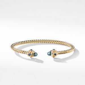 Renaissance Bracelet with Hampton Blue Topaz in 18K Gold, 3.5mm alternative image