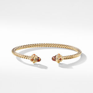 Renaissance Bracelet with Madeira Citrine in 18K Gold, 3.5mm alternative image
