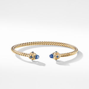 Renaissance Bracelet with Light Blue Sapphires in 18K Gold, 3.5mm alternative image