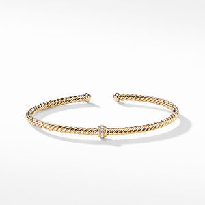 Renaissance Center Station Bracelet with Diamonds in 18K Gold, 3mm alternative image